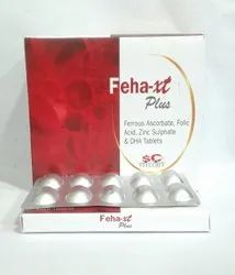Ferrous Ascorbate, Folic Acid And Zinc Sulphate, DHA Tablets