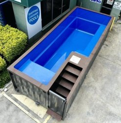 Mild Steel With Frp Linings Skimmer Type Container Pools, Dimension: 20x8 Feet, 4 Feet