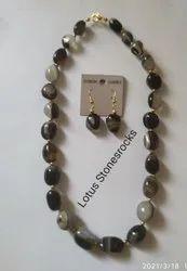 Suleimani Akik Necklace Earrings Set