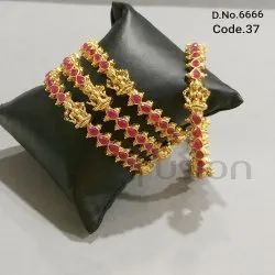 Traditional Temple Ruby Bangles