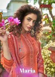 Roli Moli Maria Cambric Cotton Print With Siroswki Diamond Work Dress Material Catalog