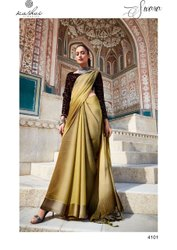 Heavy Designer Sequence Blouse Traditional Chiffon Party Wear Saree