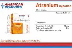 Atranium 25mg/2.5ml (Atracuriam Besilate Injection)