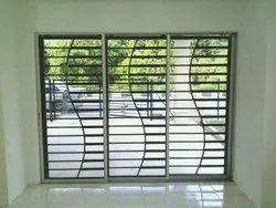 Stainless Steel Window Grill, Rectangular