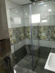 Temper glass shower enclosure