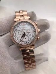 Round Luxury(Premium) Gc Watch For Women, For Personal Use