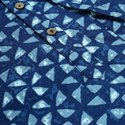 Janasya Men's Blue Cotton Kurta(MEN5007)