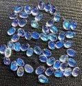 100% Natural Rainbow Moonstone Cabochon, 6X4MM Handmade Moonstone Gemstone Making For Jewellery