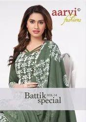 Aarvi Fashion Batik Special Vol 14 Cambric Cotton Dress Material Catalog