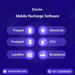 Mobile Recharge Software, Apply Free Live Demo- Ezulix