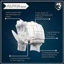 White Alpha Batting Cricket Golves