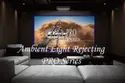 Curved Frame Ambeint Light Rejecting Projection Screen