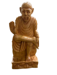 Wooden Sai Baba Murti 8 inch
