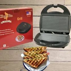 Sandwich Toaster Chef Pro Grill Black