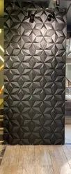 Ceramic 30X60cm Black 3D Elevation Wall Tile, For Hotel, Thickness: 6 mm
