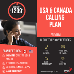 VoIP Internatinal Calling Premium - USA & Canada, For Unlimited, In Pan India