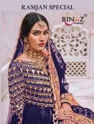 Rinaz Fashion Ramjan Special Georgette With Embroidery Pakistani Suit Catalog