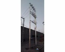 HT Two Pole Structures Work, in Gujarat, 2
