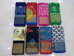 Cotton Print Mayuri Saree With Blouse