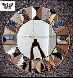 SGE Round Decorative Mirror Glass, For Home