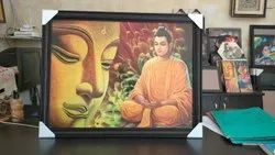 Synthetic Wood Brown Buddha Photo Frame, For Decoration, Size: 12*12 Inch