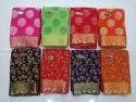 Party Wear Floral Print Pure Chiffon Jacquard Border Saree With Buti Banaras Blouse