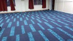 Residential Building Blue Carpet Tile Flooring Service