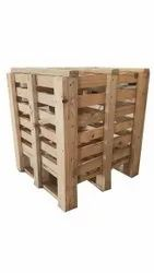Square Open Crates Pine Wood Storage Crate, For Packaging