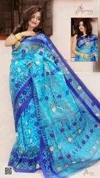 Trusty Party Wear Dhakai Rangabati Saree, Without Blouse Piece, 5.5 M ( Separate Blouse Piece)