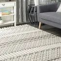 Knotted Wool Rug For Home And Living, Wool Pail Area Rug, Tribal Textured Tassels Rug, Rugs And Carpet