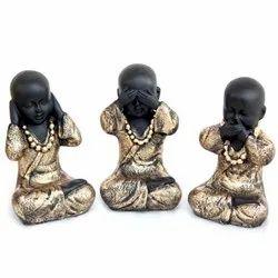Little India Baby Monk Gandhi Monkey 3 Pc. Set 5
