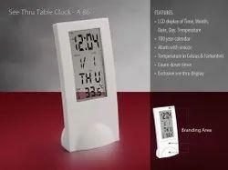 A86 See Thru Table Clock ( Transparent Digital Clock)