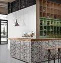Kajaria Ceramic 5 Mm Glossy Hd Kitchen Wall Tiles, Size: 30x60 Cm