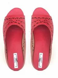 Darli Wedges Red Ladies Sandal, Size: 6-12