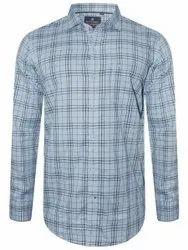 Cotton Checks Men Party Wear Shirt, Machine Wash, Hand Wash, Size: L