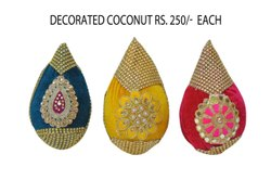 Decorated Coconut Nariyal Decoration for Wedding