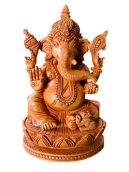Wooden Ganesh ji 6 inch