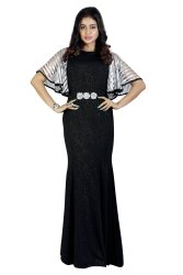 Stylish Partywear Gown With Butterfly Sleeve