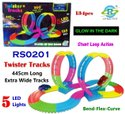 Multicolor Wooden Rs0201 Twister Tracks Glow In The Dark With 5 Led Lights Toy