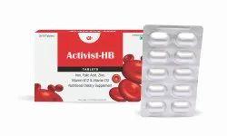 Activist HB FerrousBisglycinate, Vit D3,Mecobalamin, Folic Acid, Zinc Sulphate