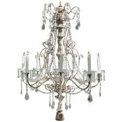 Round Hanging Crystal LED Glass Chandelier