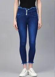Skinny Women High Rise Denim Jeans, Waist Size: 32