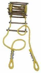 聚丙烯黄色安全绳梯,用于施工