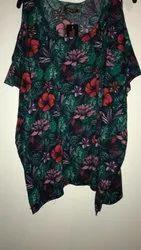 Party Wear Women Jaipuri Floral Printed Dress, Size: M