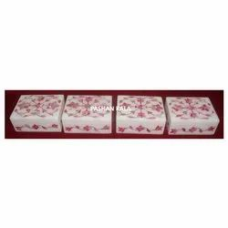 White Marble With Amazing Pink Mother Of Pearl Jewelry Boxes 2021