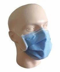 Disposable Blue Surgical Face Mask, Number of Layers: 3
