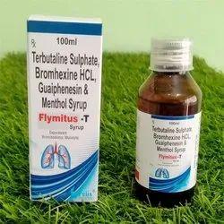 Terbutaline Bromhexine Guaiphenesin Syrup, Packaging Size: 100 mL