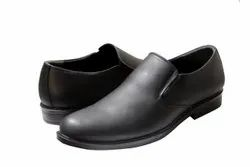 Black Men Slip On Side Elastic Shoes