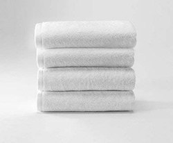 Solid White Cotton Hand Towel, Size: 16x24 Inches