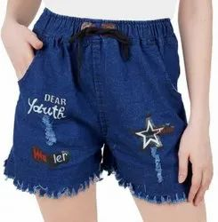 Girls Blue ladies shorts
